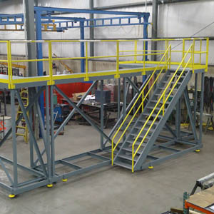 Custom Mobile Steel Access Platform and Stairs