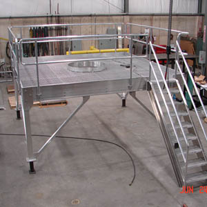 Custom Aluminum Maintenance Platform