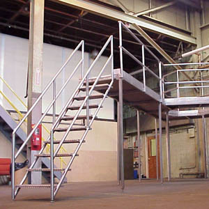 Custom Stainless Steel Sanitary Access Platform