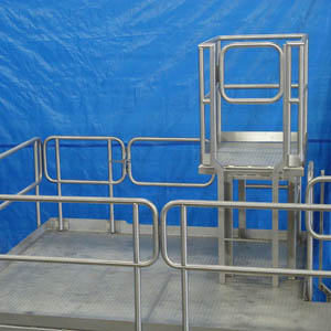 Custom Stainless Steel Sanitary Equipment Platform