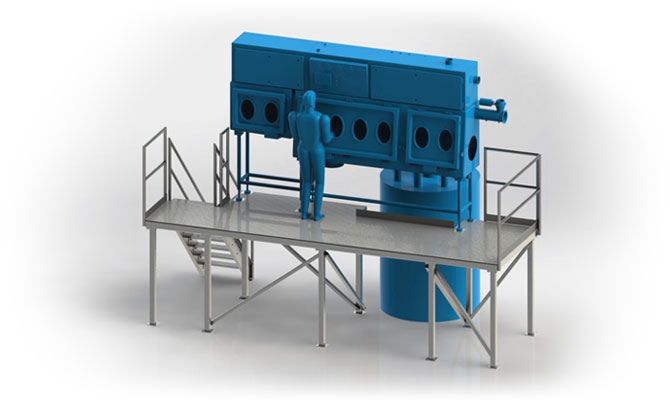 Custom Stainless Steel Sanitary Equipmentand Operator Platform