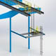 Fixed Aluminum Ladder with LAnding Platform