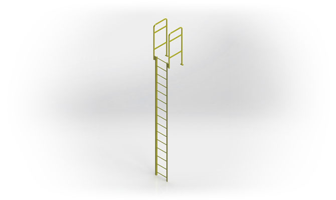 Fixed Industrial Parapet Ladder