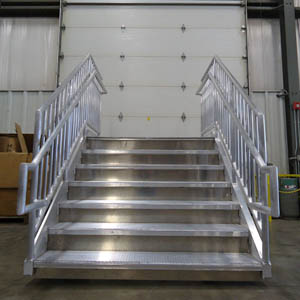 Aluminum Stairs with ADA Treads