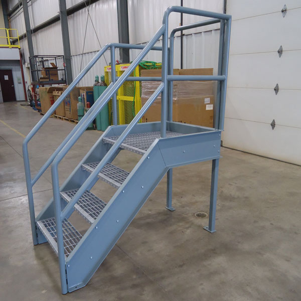 Steel Stairs With Bar Grate Treads