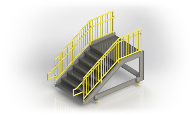Fabricated Metal Stairs Custom Industrial Stairs